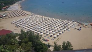 A view of the east beach in Sperlonga